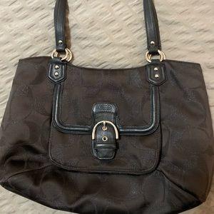 COACH Madison Bag Black on Black